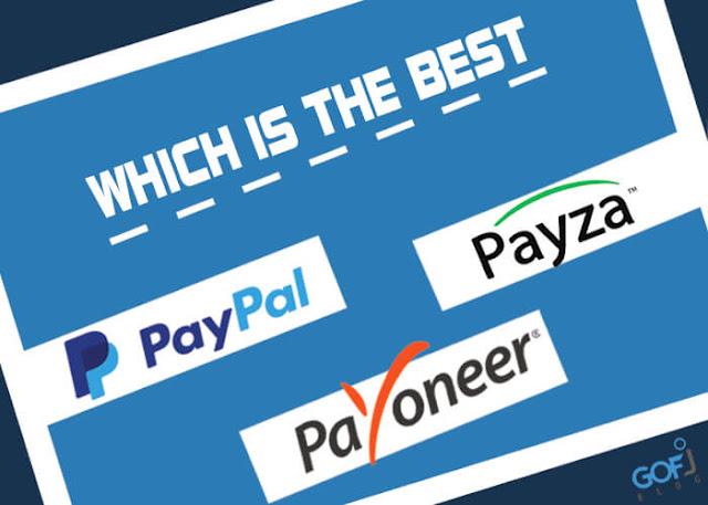 PayPal vs Payza vs Payoneer