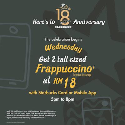 Starbucks Malaysia Card & App Frappuccino Discount Promo