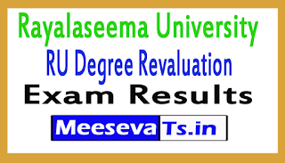 Rayalaseema University Degree Revaluation Exam Results