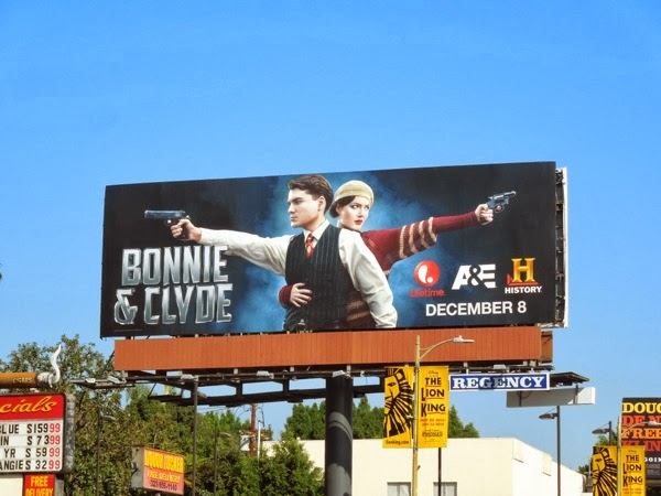 Bonnie & Clyde TV remake billboard