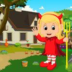 Games4King Cute Devil Baby Rescue Walkthrough