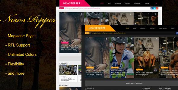 NewsPepper - Responsive Blogger Magazine Template