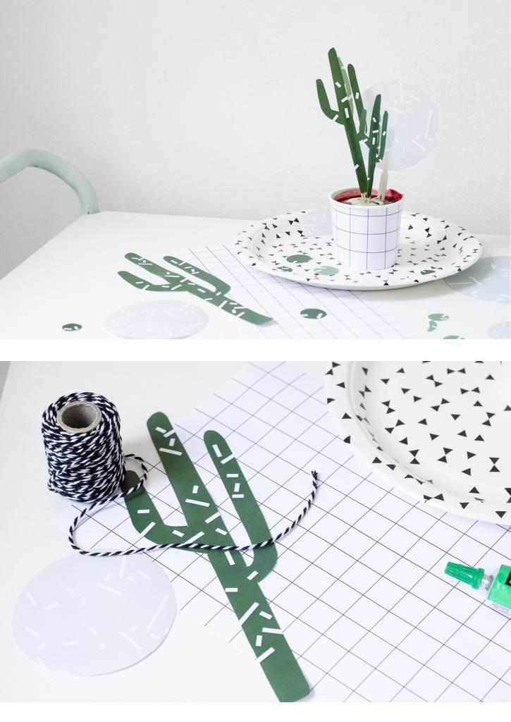 kaktus z papieru