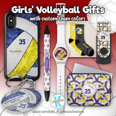 girls volleyball team colors gifts collection