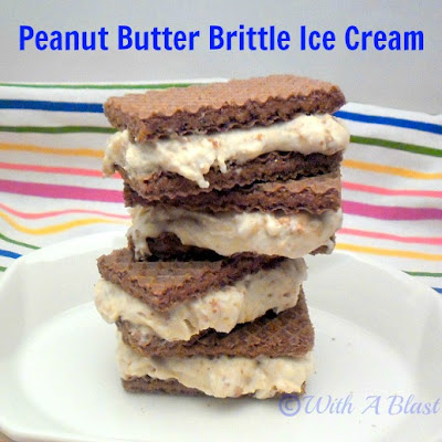 Peanut Butter Brittle Ice-Cream