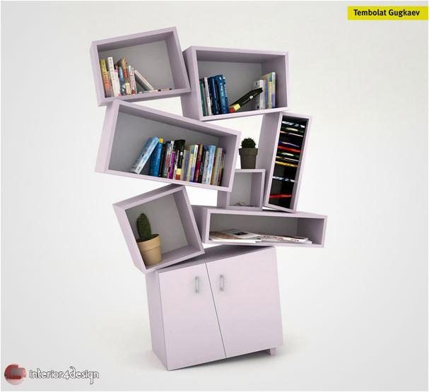 70 Best Bookshelf Designs 50