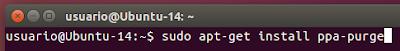 sudo apt-get install ppa-purge