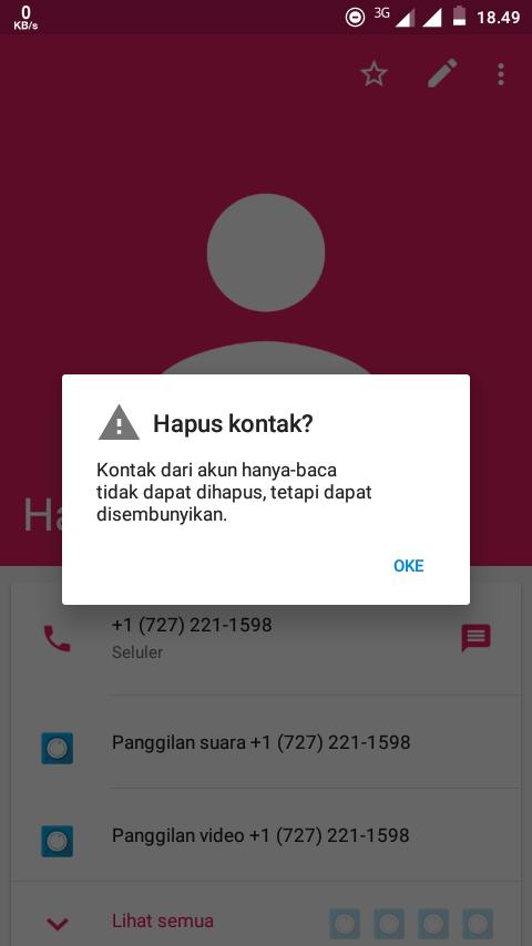 Cara Menghapus Kontak Hanya Baca Di Android