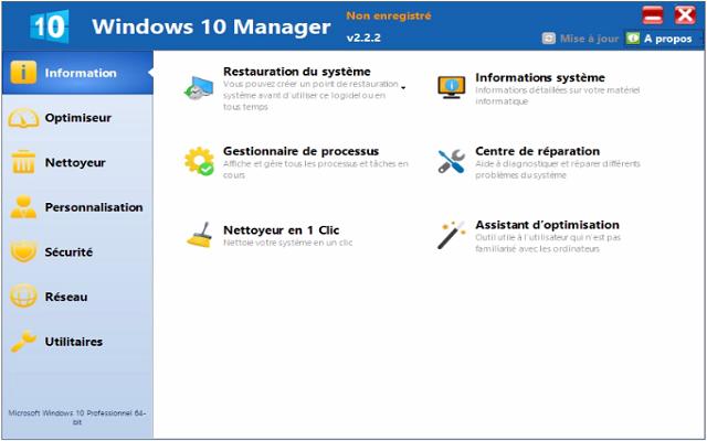 تحميل برنامج تنظيف وتسريع نظام تشغيل الويندوز Windows 10 Manager آخر إصدار