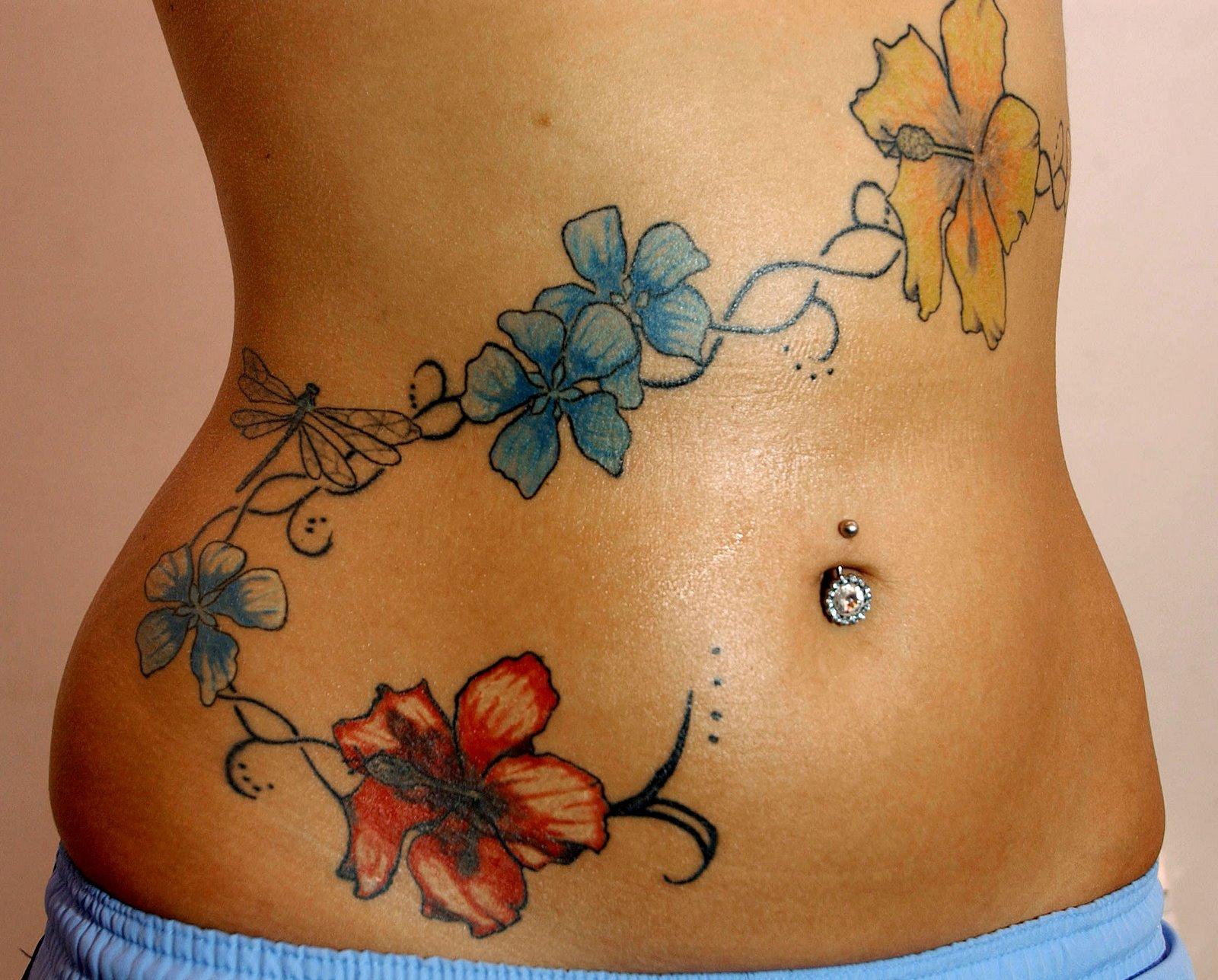 Side Flower Tattoo Designs: Eclipse: Tattoo Designs For Girls