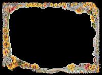 flower swirl border frame design image scrapbooking clipart