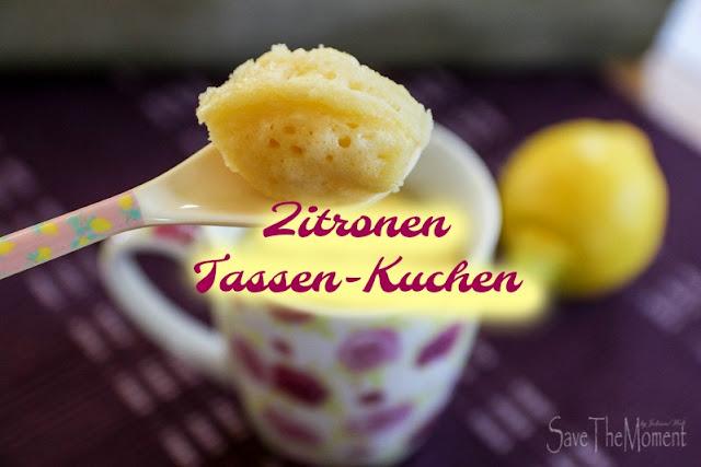 Rezept für Zitronen Tassen-Kuchen aus der Mikrowelle