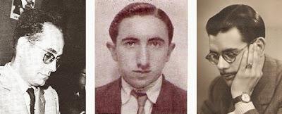 Los ajedrecistas Jaume Mora, Romà Bordell y Antonio Medina