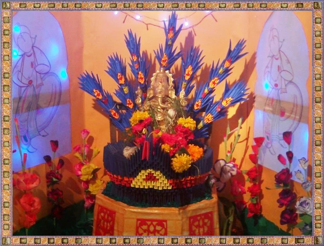 Ganesh chaturthi decoration ideas for Decoration ganpati