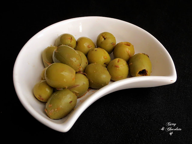 Aliño casero para aceitunas cocidas – Green olives dressing