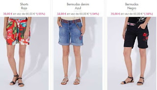 shorts para chica de Desigual