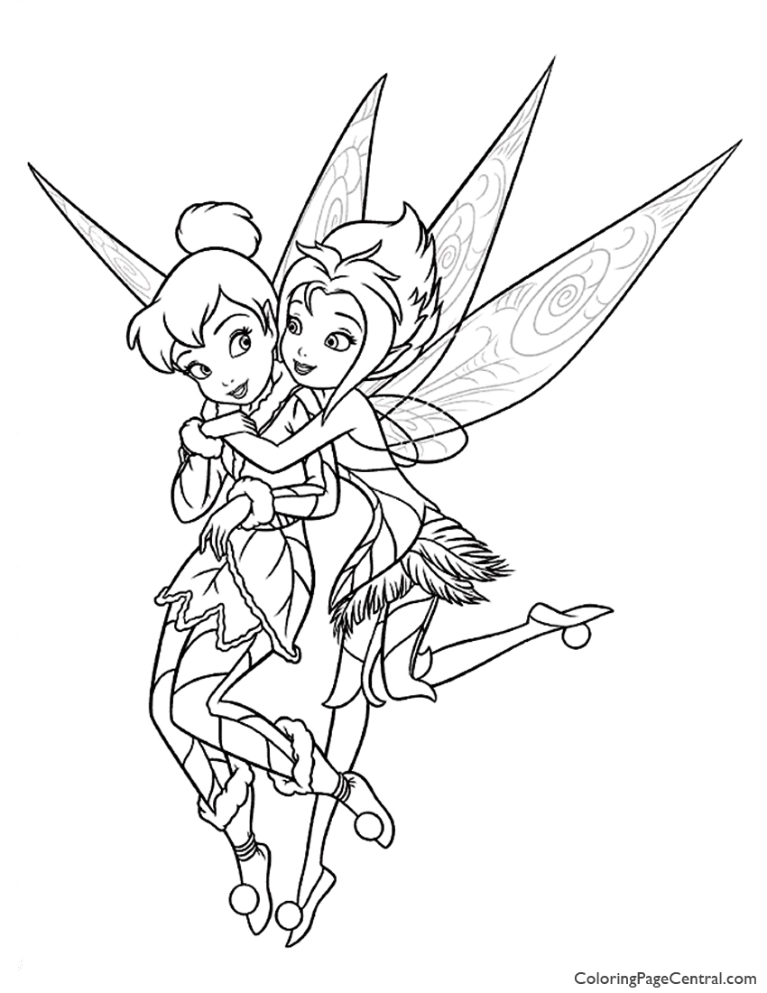 i love tinkerbell coloring pages - photo#14