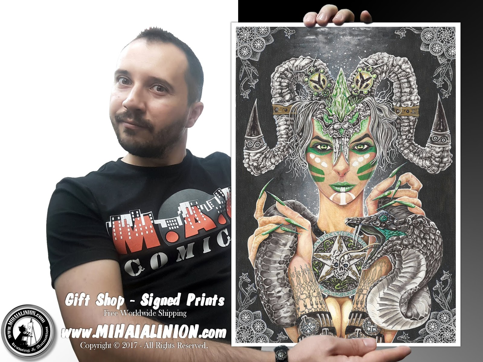 Drawing Snake Lady, Drawing girl, Drawing lady with horns, snake, Drawing woman, painting horror art, classic art, painting dark art, ancient egyptian deity, dark fantasy art snake, mithology illustration, pentagram, snake god, youtube artist, hot sexy girl snake, MAI Comics, Mihai Alin Ion, art by mihai alin ion, how to draw, artselfie, drawing ideas, free drawing lessons, drawing tutorial, art, drawing apep, dessin, disegno, dibujo, drawing, illustration, painting, design, realistic 3d art, coloured pencils, www.mihaialinion.com, 2017, pencil drawing, tempera, acrilics paint, marker, gouache painting, mixed media, comics, comic book, caricature, portrait, cum sa desenezi, caricaturi mihai alin ion, caricaturi si portrete  la comanda, eveniment caricaturi, caricaturi la nunta, caricaturi la botez, caricaturi la majorat, desene pe pereti, desene pentru copii, ilustratie carte, benzi desenate, caricaturi, portrete, comanda caricaturi