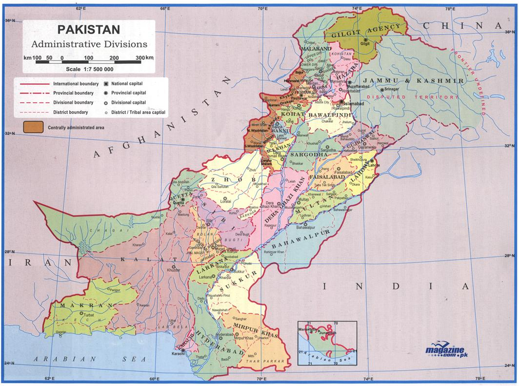 Location Of Pakistan  Great Pakistan - Location on map with latitude and longitude