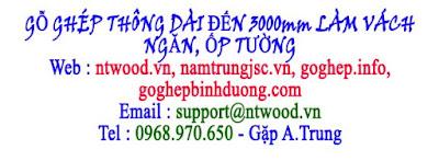 gỗ ghép thông dài đến 3000mm
