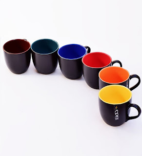 Best Deal : Black Matt Finish Mugs (set Of 6) At Rs.155 frickspanel