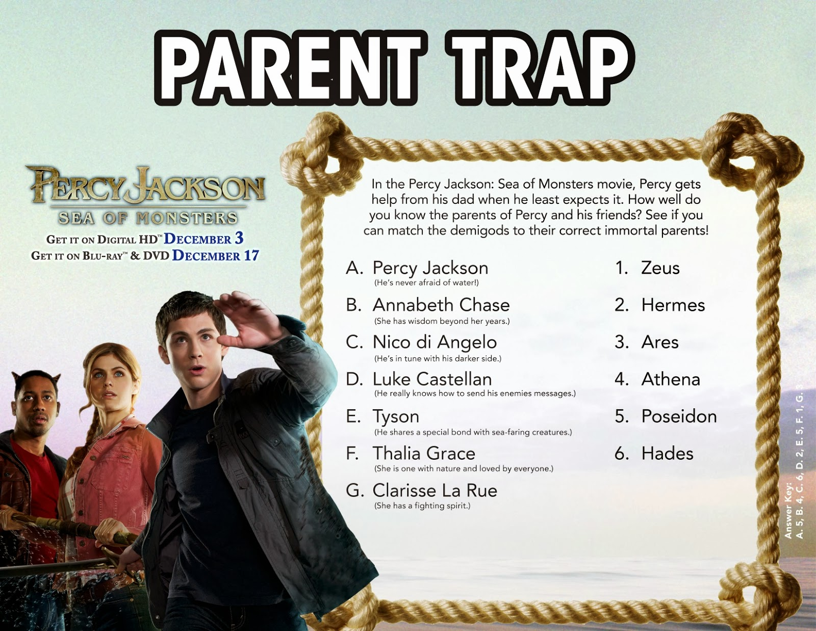 Hanging Off The Wire Percy Jackson Sea Of Monsters Giveaway