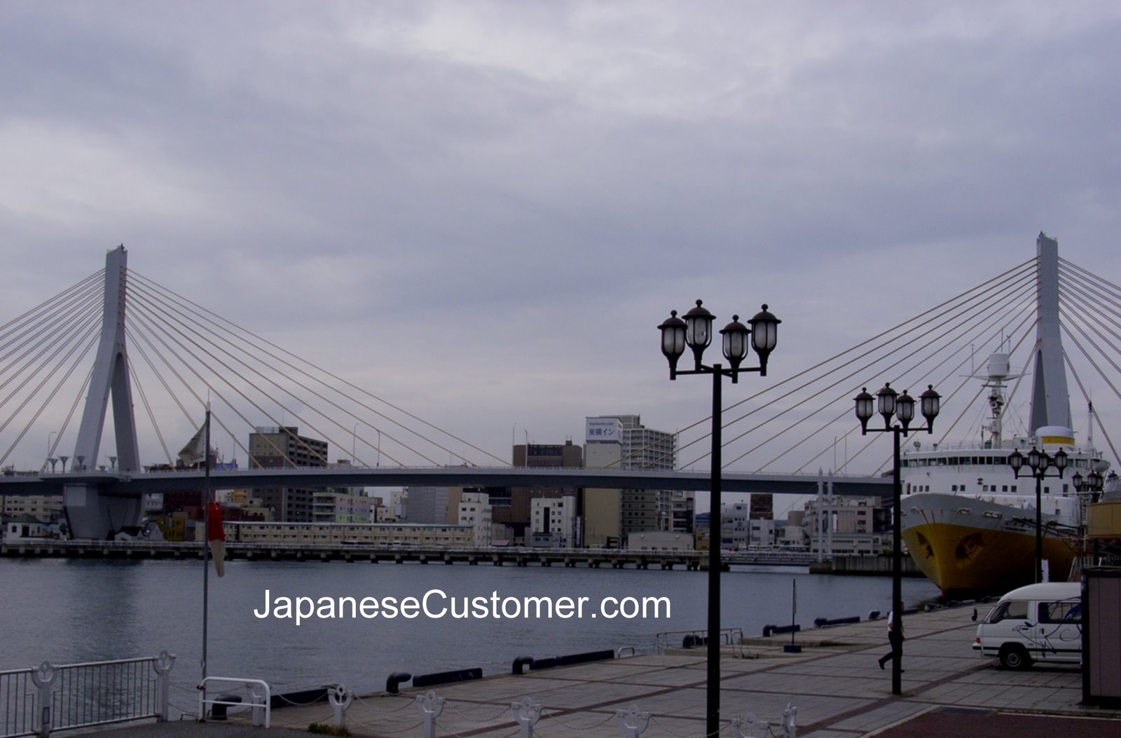 Skyline of Japanese city Copyright Peter Hanami 2007