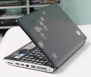 Laptop Bekas HP DV3 Black Motif