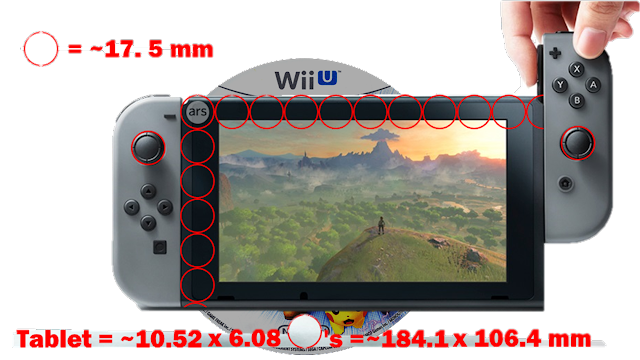 Wii U disc Nintendo Switch tablet size comparison Ars Technica