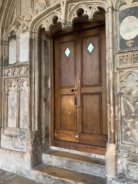 beautiful doorway at Gloucester Cathedral