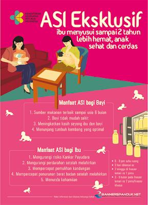 Poster kesehatan tentang ASI eksklusif cdr