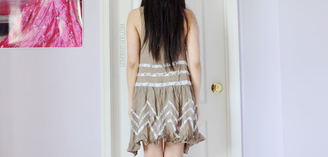 A boho-chic summer outfit featuring the Free People Intimately Voile and Lace Trapeze Slip lace-paneled ruffled dress dupe from Romwe, paired with a layered chain necklace and taupe platform booties.
