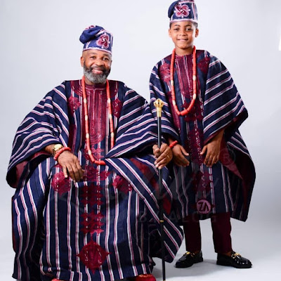 Yemi Solade and son twinning in Agbada