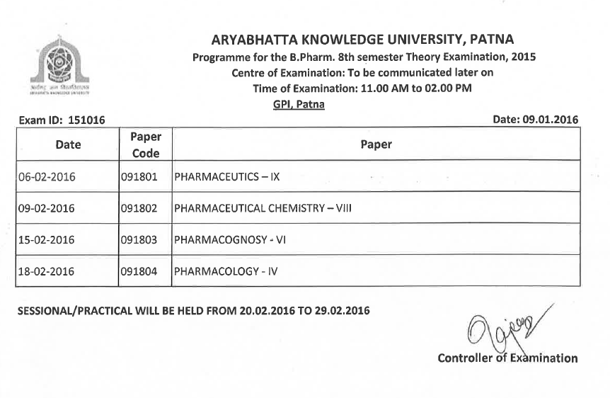 AKU Previous Years Question Papers - University Question Papers