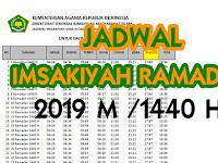 JADWAL IMSAKIYAH RAMADHAN 1440 H (2019) SELURUH KOTA DI INDONESIA