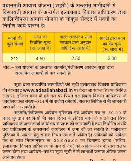 PM Sahri Awas Yojana 2018:- In Allahabad