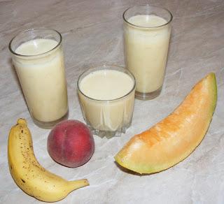 milkshake, shake, bauturi, nutritie, naturist, alimentatie, sanatate, milkshake de pepene galben, retete culinare,