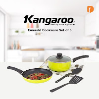 Dusdusan Kangaroo Emerald Cookware Set (Set of 5) ANDHIMIND