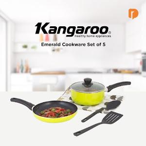 Kangaroo Emerald Cookware Set (Set of 5)