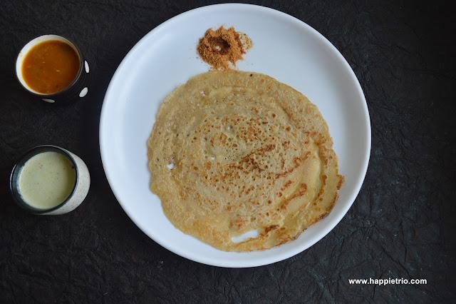 Wheat Dosa | Instant Wheat Dosa | Godhuma Dosa