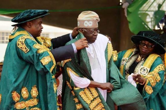 Photos: Bola Tinubu Bags Honorary Doctorate Degree From University Of Abuja