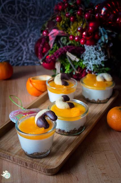 Mandarinendessert mit Quark und Lebkuchen