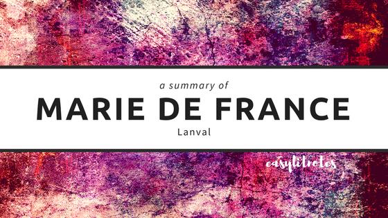 summary of marie de france's lanval