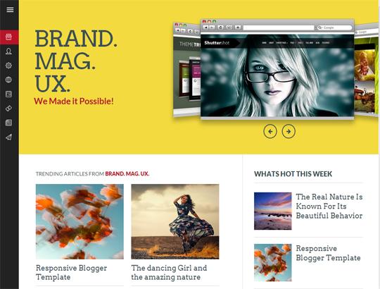 Template Blogger Brand Mag UX dành cho cá nhân và doanh nghiệp