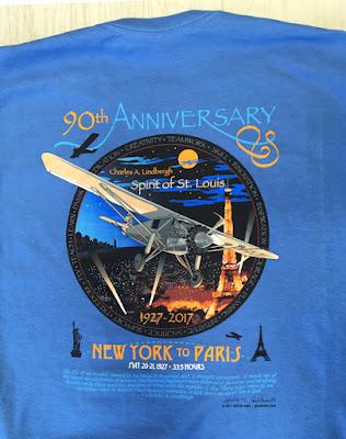 90th Anniversary Charles Lindbergh T Shirt