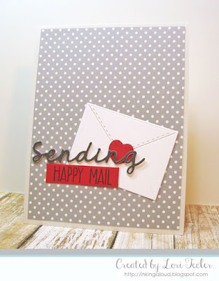 Sending Happy Mail card-designed by Lori Tecler/Inking Aloud-stamps and dies from Lil' Inker Designs