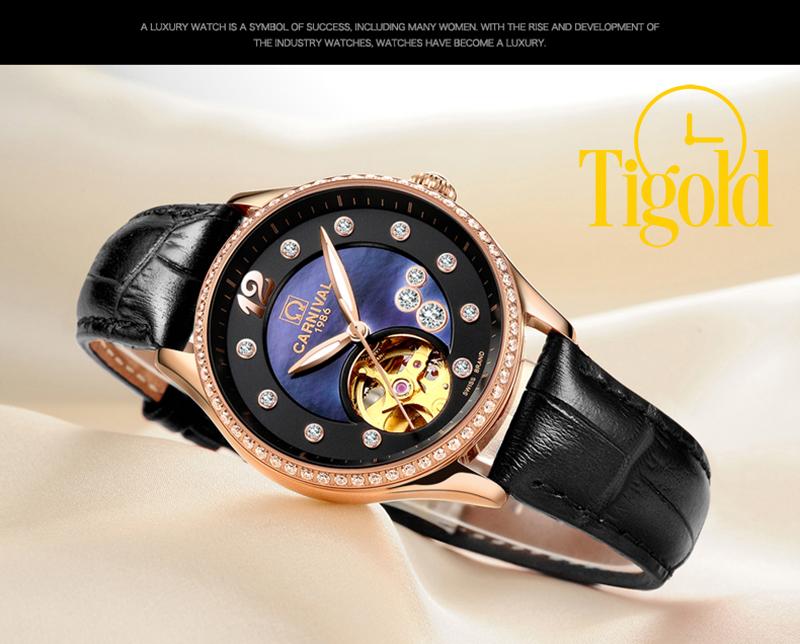 bán đồng hồ nữ carnival dây da