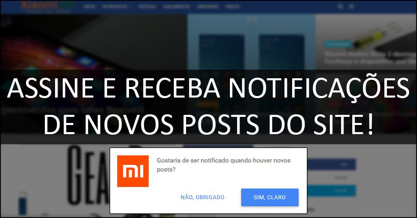 Inscreva e receba notificações de novos posts