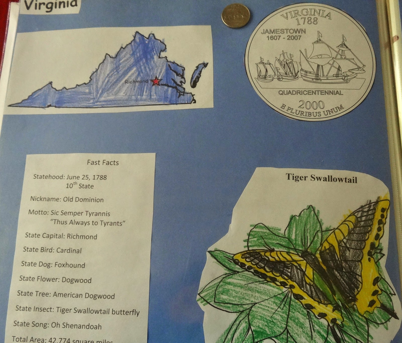 Mountain Of Grace Homeschooling Our State Scrapbook Vriginia