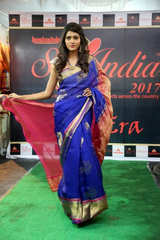 Glamorous Hyderabad Girl Shalu Chourasiya In Transparent Blue Sari